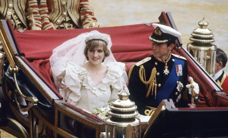 Princess Diana and Prince Charles at their royal wedding