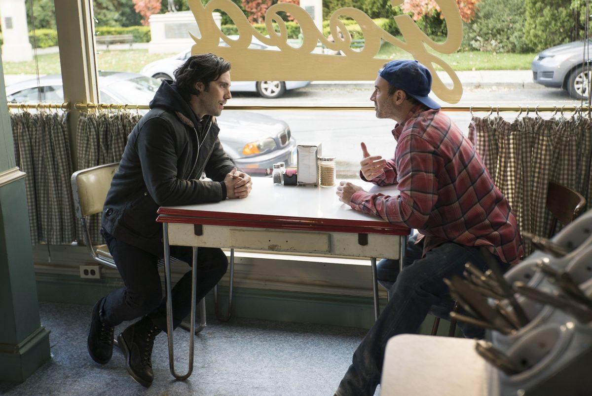 Milo Ventimiglia as Jess Mariano and Scott Patterson as Luke Danes in