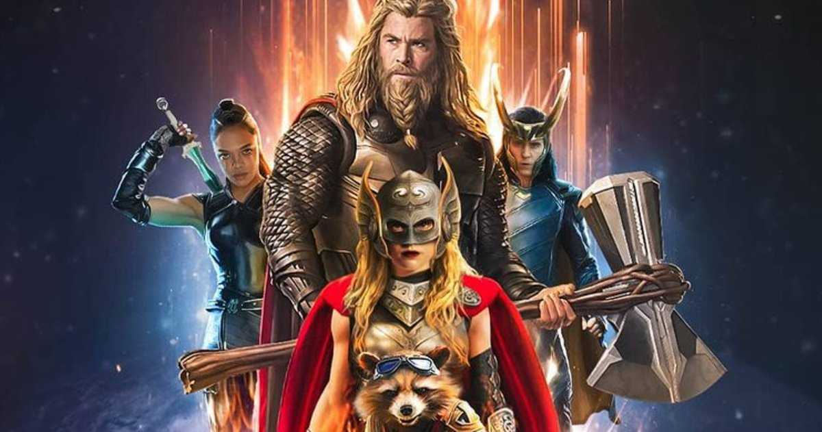 La Superbe Nouvelle Affiche De Thor: Love And Thunder Fan