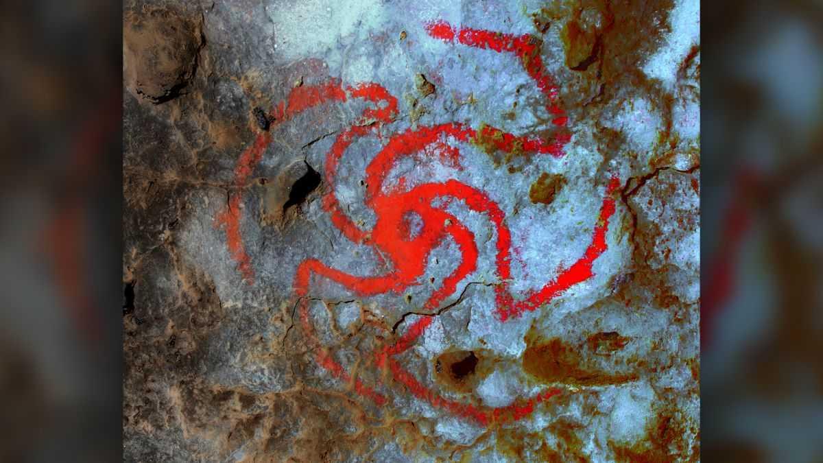 L'art Rupestre De Pinwheel Cave En Californie Peut Représenter Une