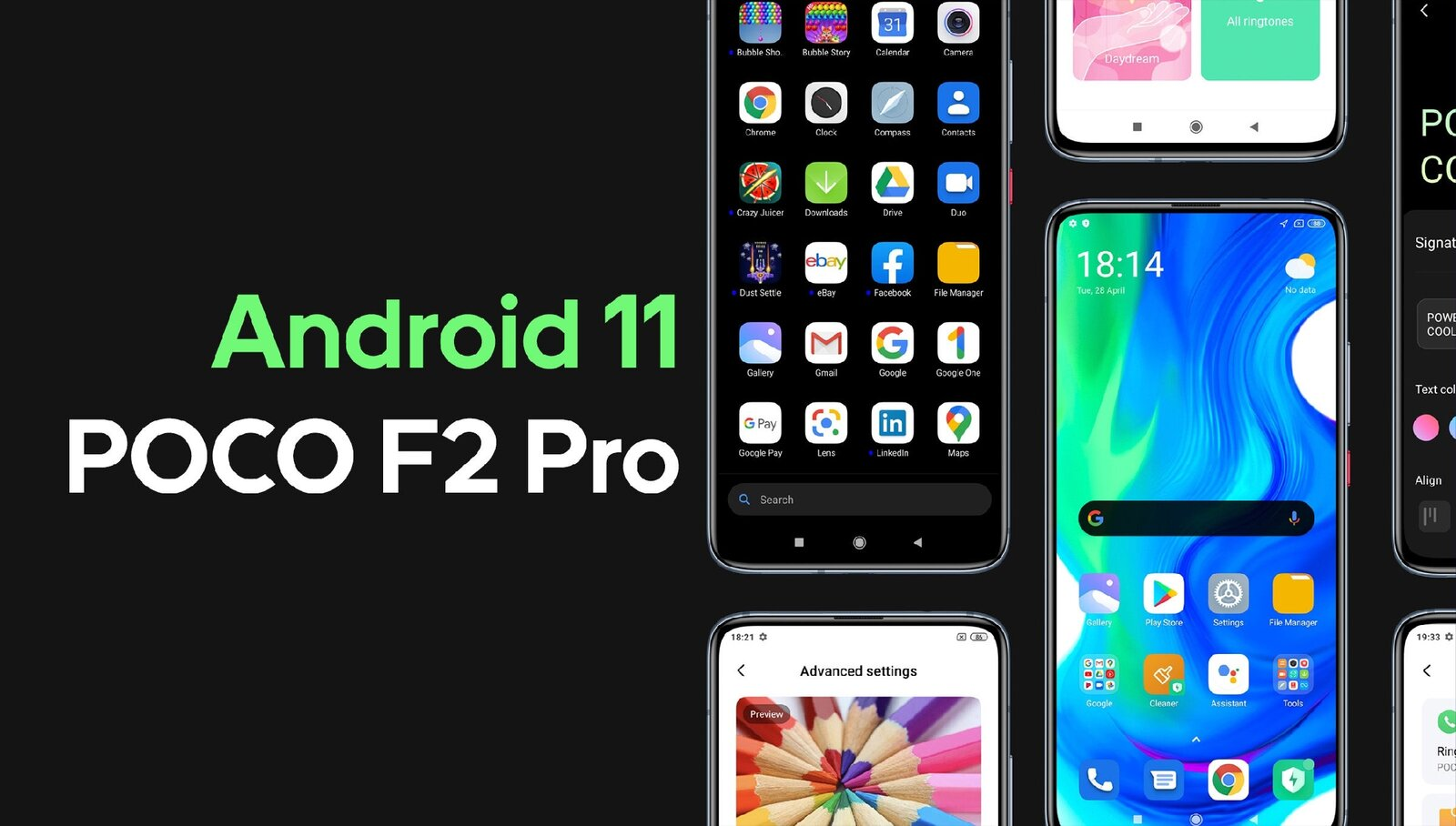 Android 11 pour POCO F2 Pro