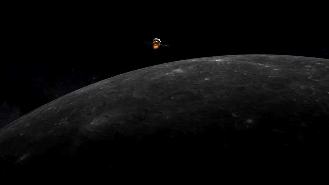 Illustration d'un artiste de l'orbiteur lunaire chinois Chang'e 5 entrant en orbite lunaire pour la première mission de retour d'échantillons lunaires du pays.
