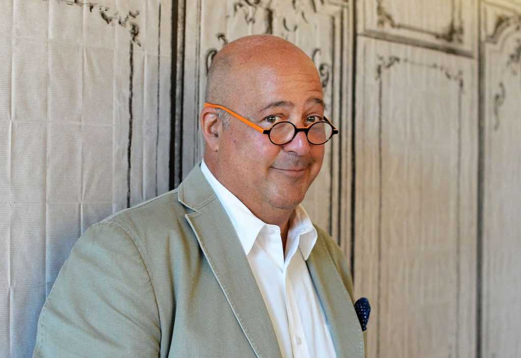 Andrew Zimmern at AOL Studios in NYC.