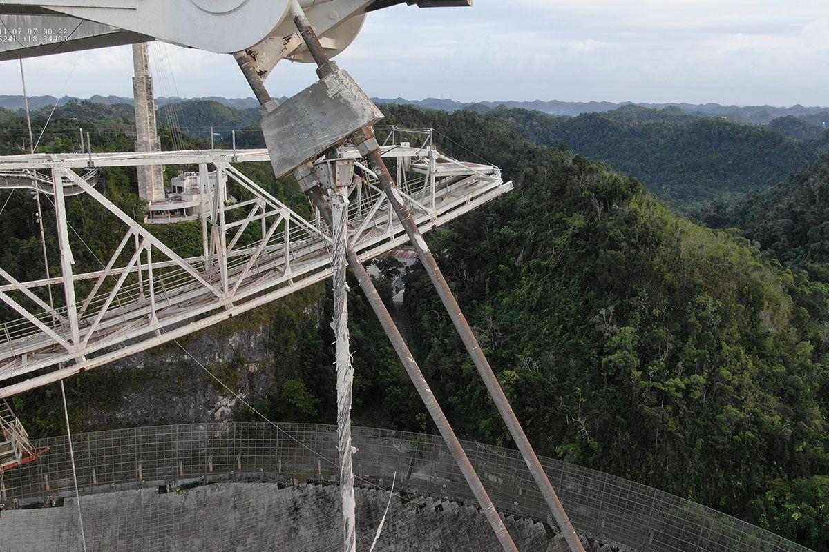L'emblématique Observatoire D'arecibo Pourrait être Sur Le Point De S'effondrer