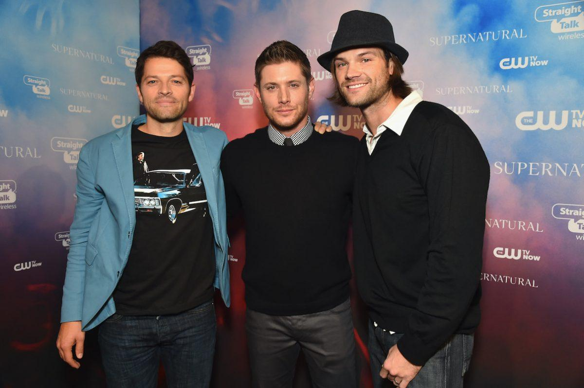 Misha Collins, Jensen Ackles, and Jared Padalecki at a