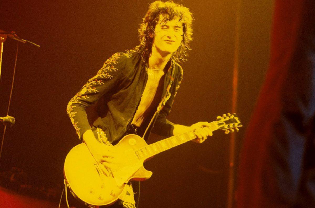 Jimmy Page sur scène, 1973