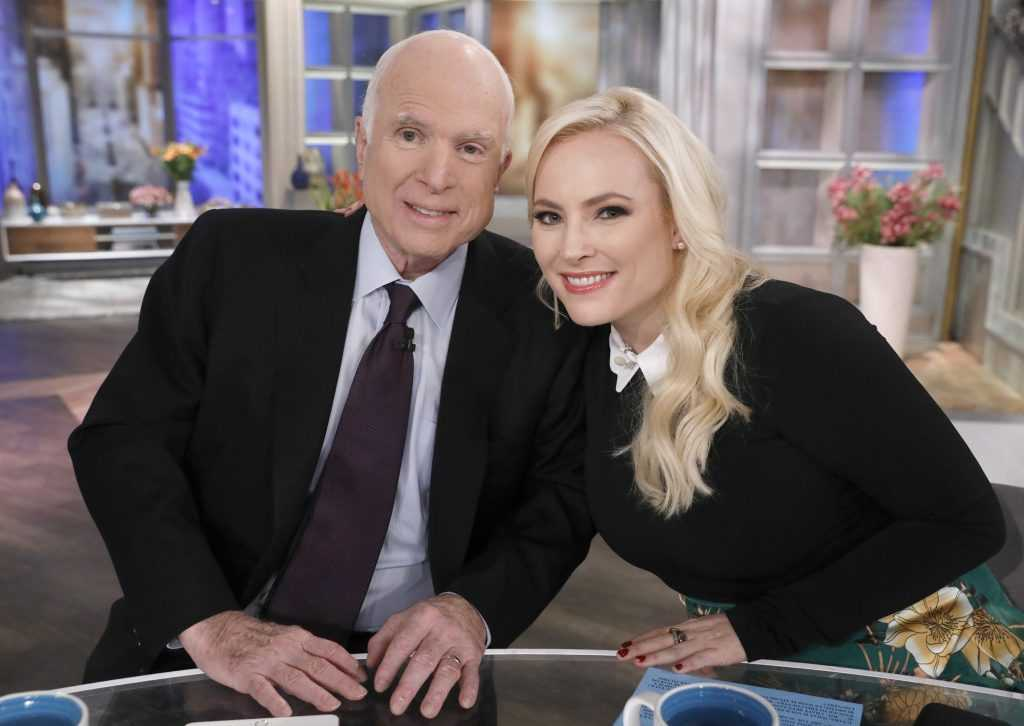 Meghan McCain with her late father John McCain