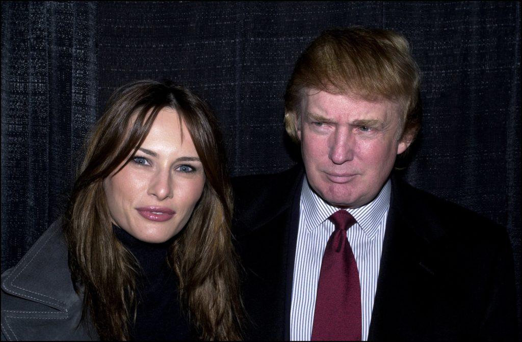 Donald Trump et Melania Trump en 2000 (David LEFRANC / Gamma-Rapho via Getty Images)
