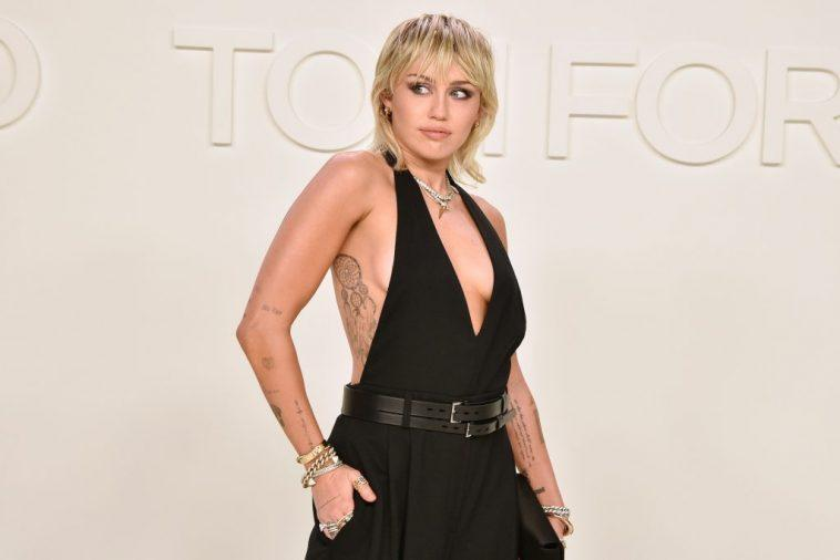 Miley Cyrus attends the Tom Ford AW/20 Fashion Show