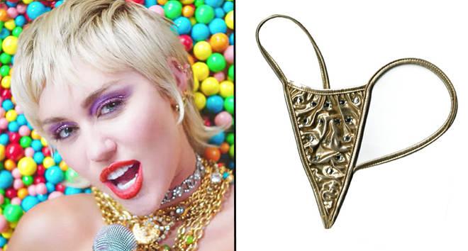 Miley Cyrus vend un vrai string doré