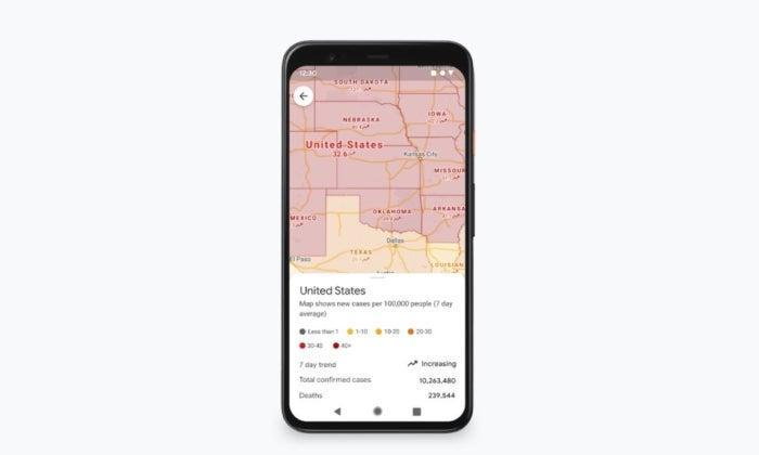 nouvelles fonctions google maps mode coronavirus
