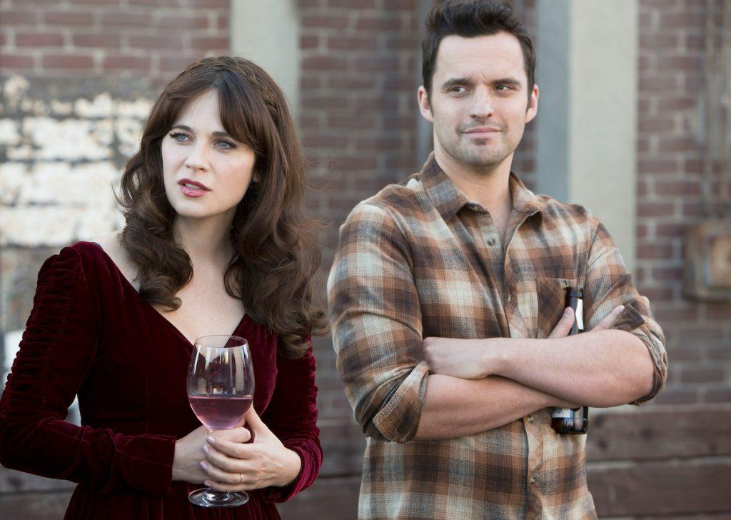 Zooey Deschanel and Jake Johnson on