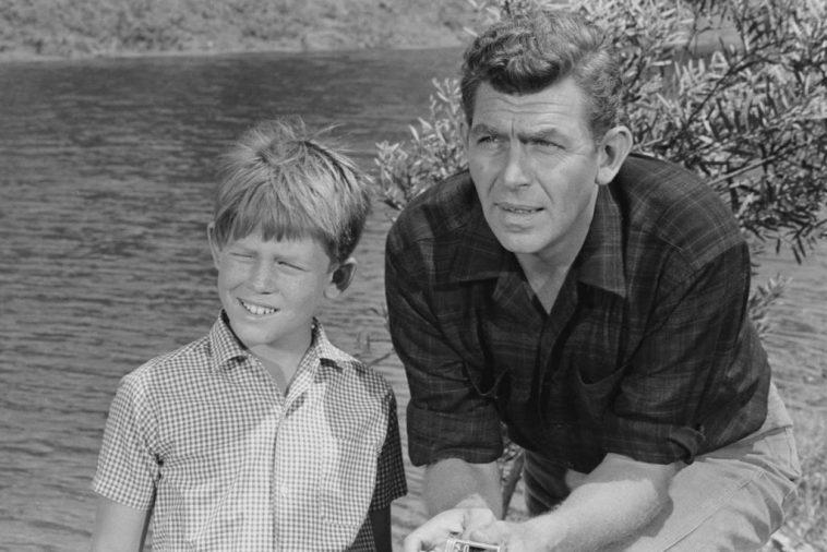 Ron Howard, left, and Andy Griffith in a scene from