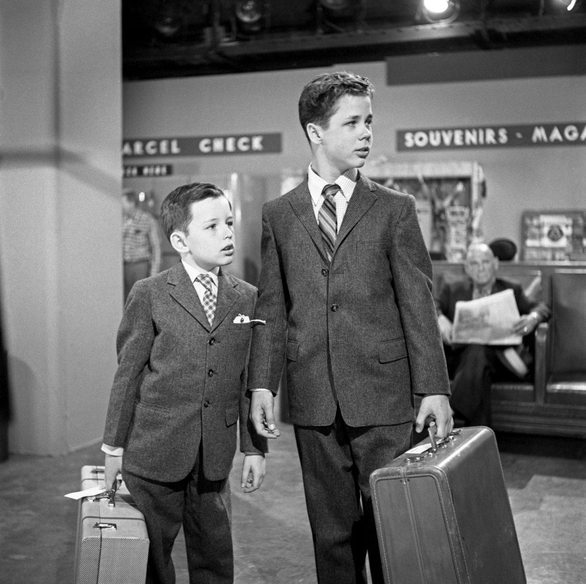 Beaver Cleaver et Wally Cleaver sur `` Leave It to Beaver ''