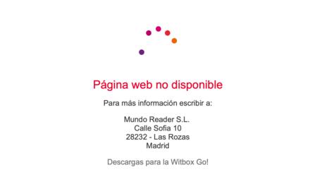 Message qui apparaît lors de l'accès au site Web de BQ faisant référence à une adresse postale pour les contacter.  Ni courrier ni téléphone.