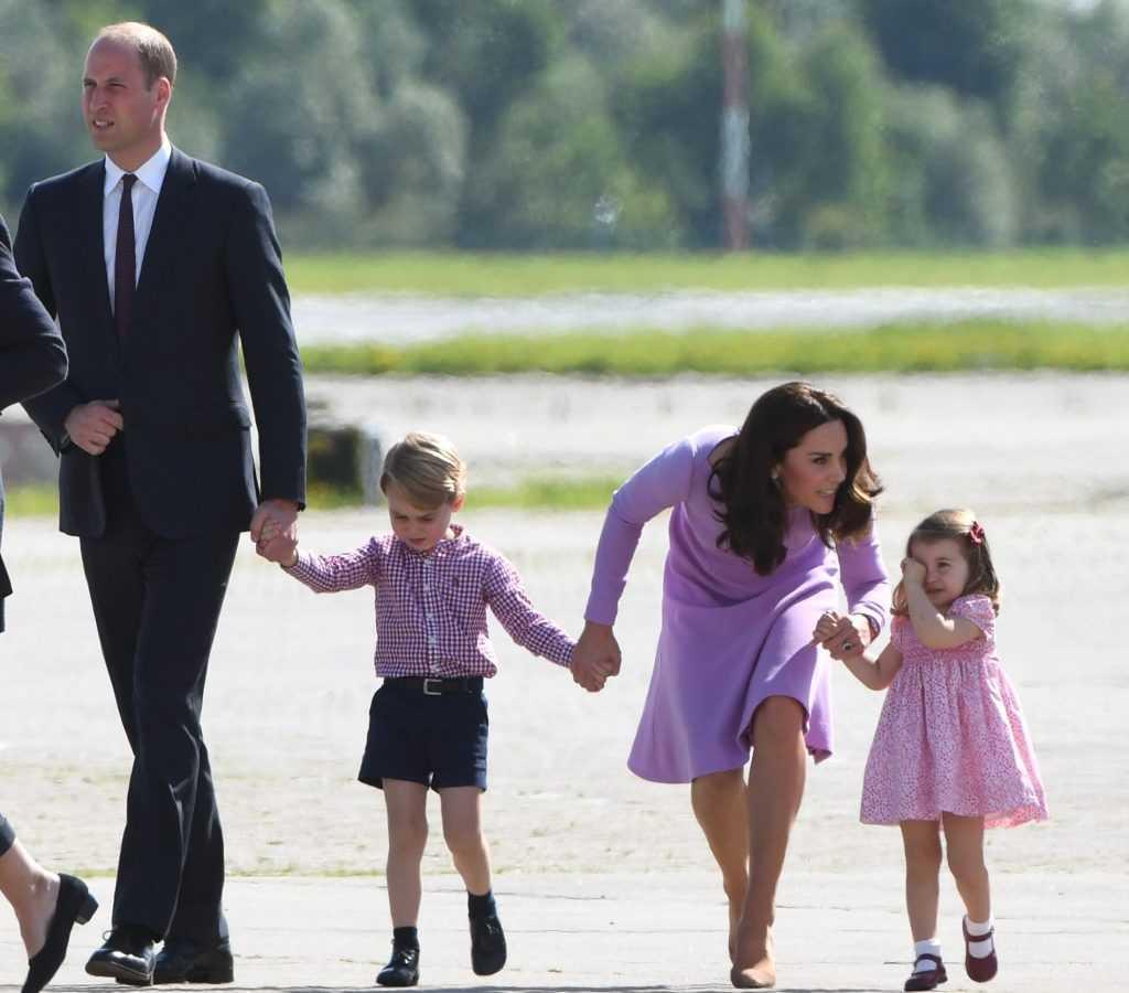Prince William, Kate Middleton, Prince George et la princesse Charlotte