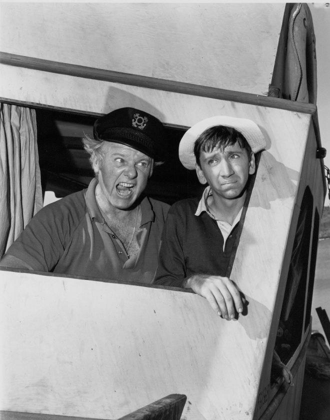 Alan Hale Jr. and Bob Denver appear as The Skipper and Gilligan in