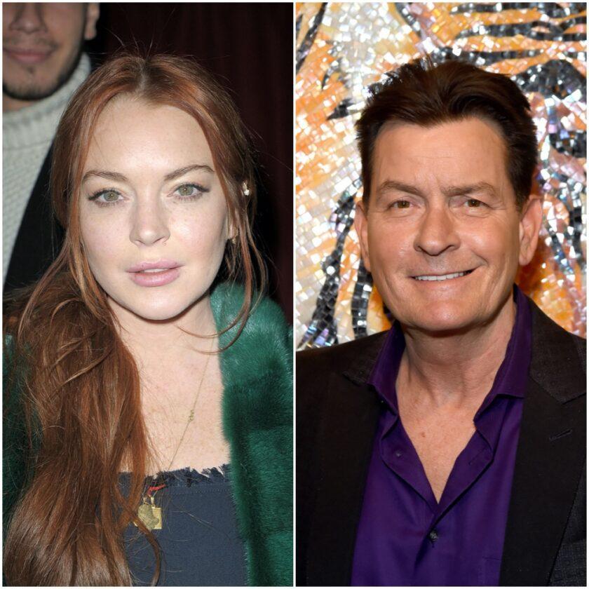 Lindsay Lohan and Charlie Sheen