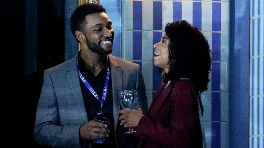 Anthony Hill as Winston and Kelly McCreary as Maggie on