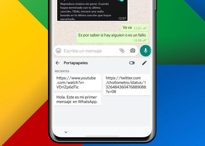 Presse-papiers Gboard sur Android