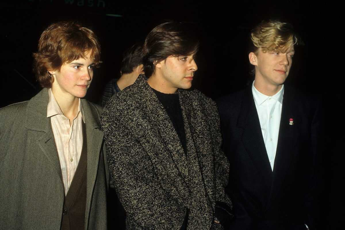 Ally Sheedy, actor Judd Nelson and actor Anthony Michael Hall in 1986