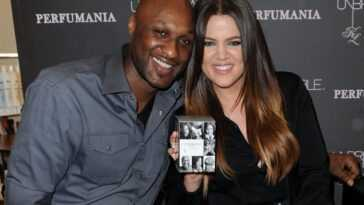 "Lamar Odom and Khloe Kardashian Odom make a personal appearance to promote their ""Unbreakable Bond"" fragrance at Perfumania on June 7, 2012 in Orange, California."
