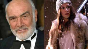 Sean Connery (left) and Sarah Jessica Parker as Carrie Bradshaw in