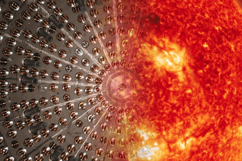 Si vous prenez une sphère en nylon remplie de 278 tonnes d'hydrocarbures liquides et que vous la plongez dans l'eau, vous pouvez savoir de quoi est fait le soleil