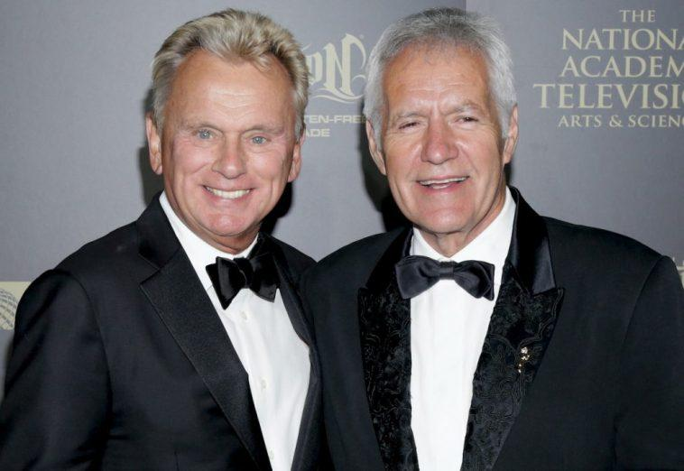 Pat Sajak and Alex Trebek at the 44th Annual Daytime Creative Arts Emmy Awards in 2017
