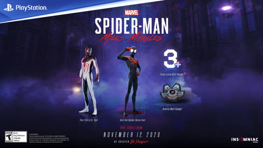 Une photo de ce que vous obtenez en précommandant Spider-Man: Miles Morales