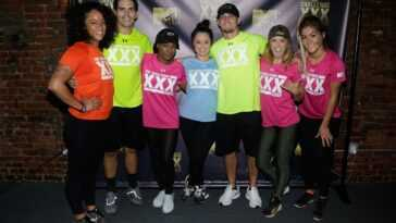 Aneessa Ferreira, Jordan Wiseley, Simone Kelly, Veronica Portillo, Hunter Barfield, Camila Nakagawa and Tori Deal attend The Challenge XXX: Ultimate Fan Experience