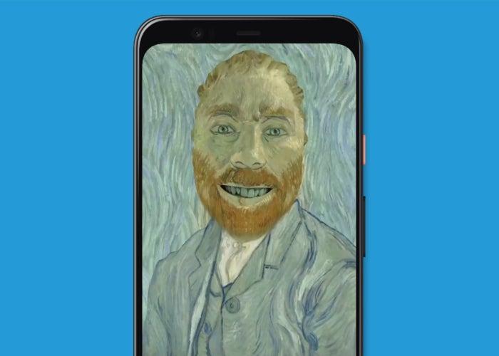 Selfie en tant qu'œuvre d'art sur Google