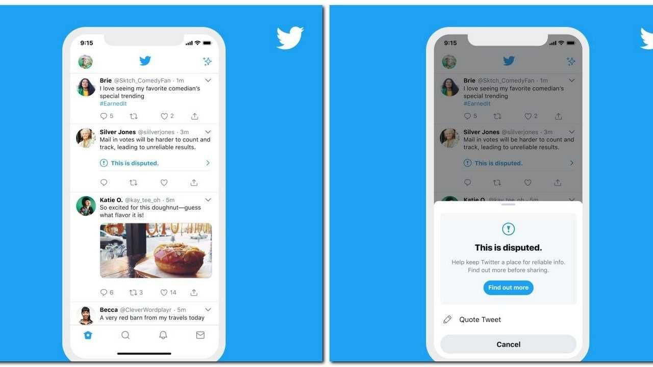 Twitter affichera désormais un avertissement aux utilisateurs s'ils essaient de retweeter des tweets signalés