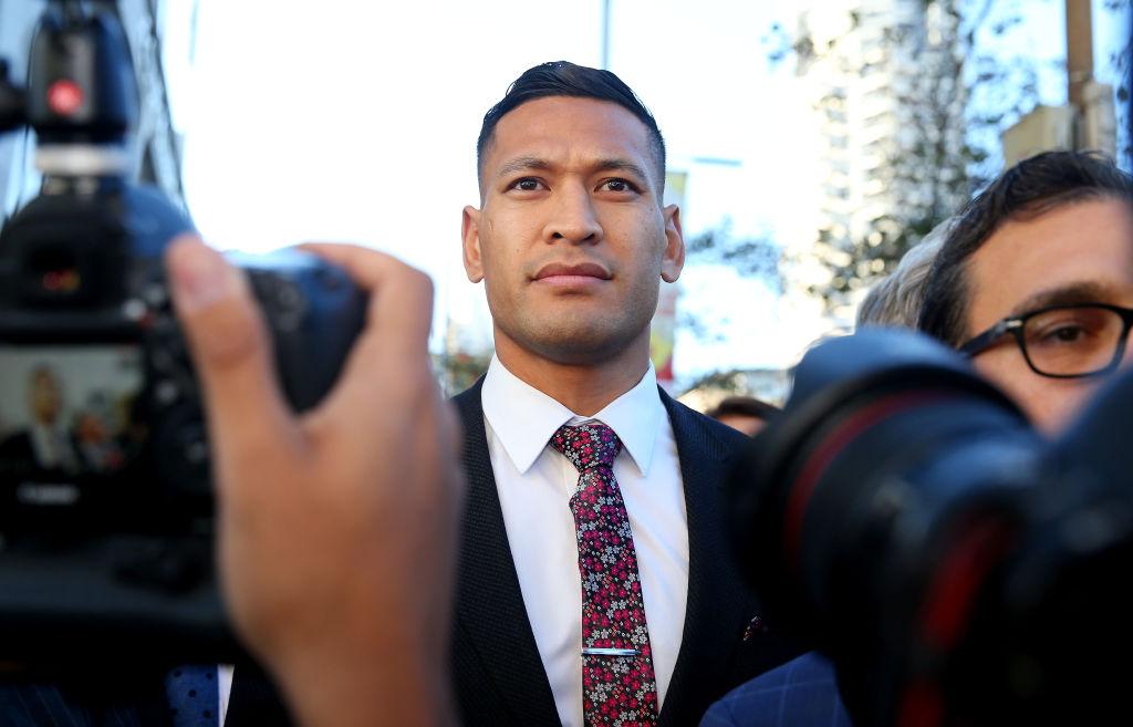 Israël Folau, joueur de rugby en disgrâce