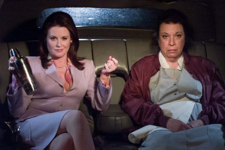Megan Mullally as Karen Walker, Shelley Morrison as Rosario Salazar