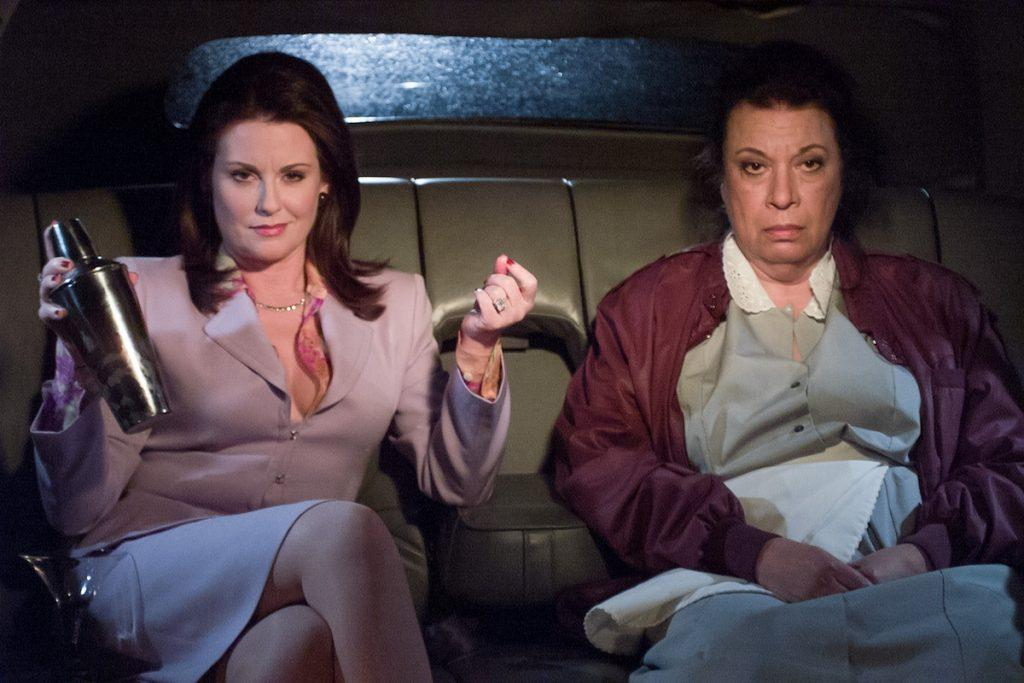 Megan Mullally as Karen Walker, Shelley Morrison as Rosario Salazar
