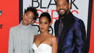 Willow Smith, Jada Pinkett Smith, and Will Smith attend the BET