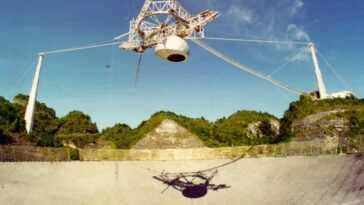 L'énorme Plate Forme Suspendue Du Radiotélescope Arecibo S'est Effondrée