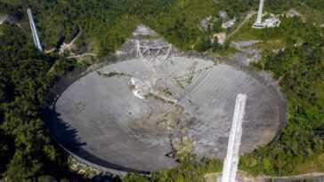 Ces Photos De L'effondrement Du Télescope De L'observatoire Arecibo Sont
