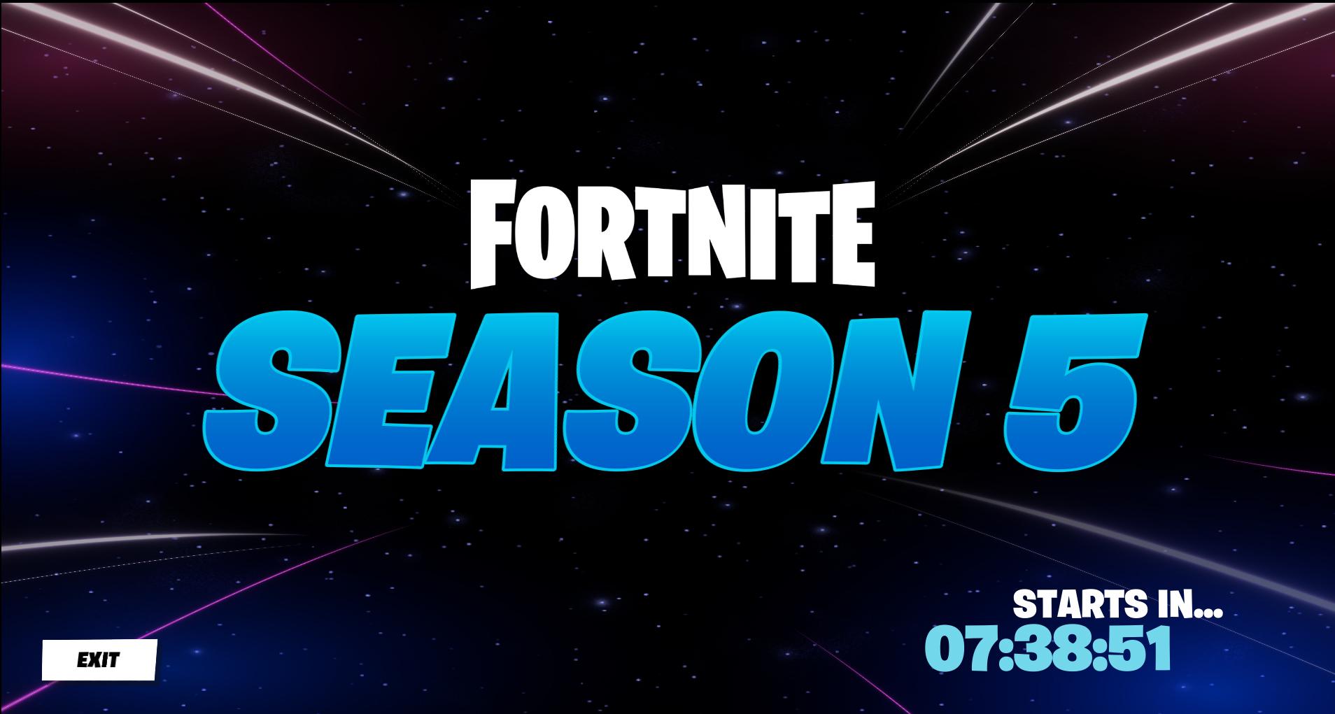 Fortnite reviendra au chapitre 2, saison 5 le 2 décembre 2020.