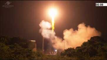 La Fusée Ariane 5 Lance Le Satellite D'observation De La