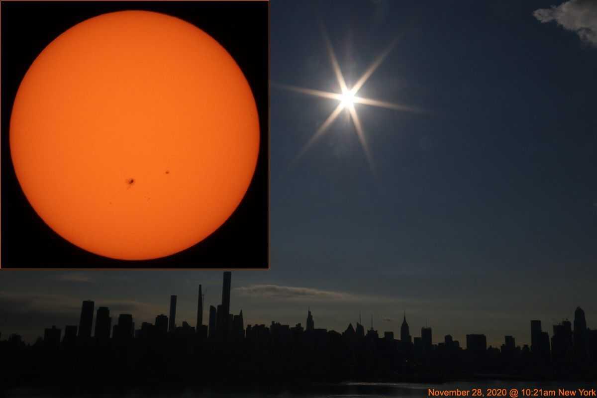 Soleil, Repéré: Notre étoile Mouchetée Brille Au Dessus De New York