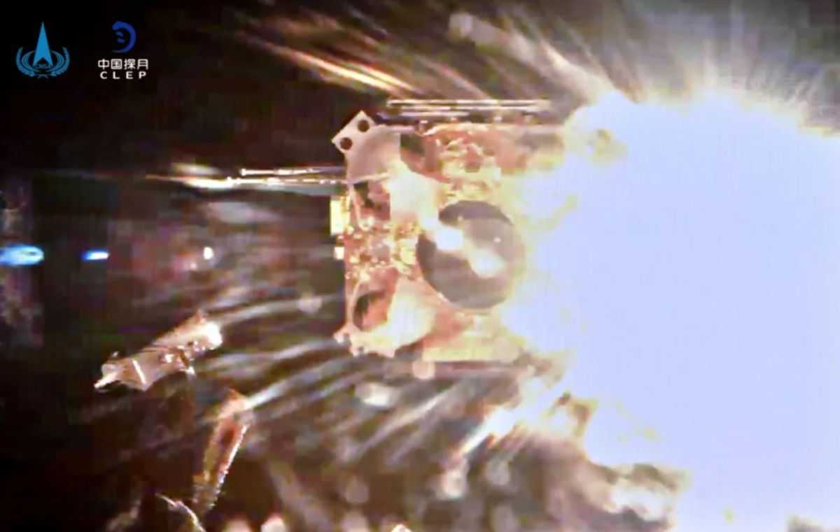 La Sonde Chinoise Chang'e 5 Décolle De La Lune Avec