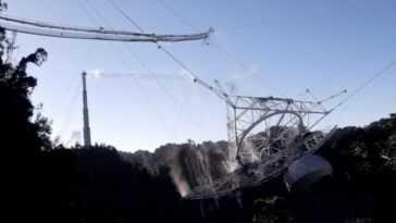 Une structure de 900 tonnes brisée: dans cette vidéo, ils ont capturé l'effondrement complet d'Arecibo sous différents angles