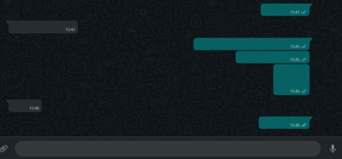 Nouvelle couleur dans les bulles Web WhatsApp