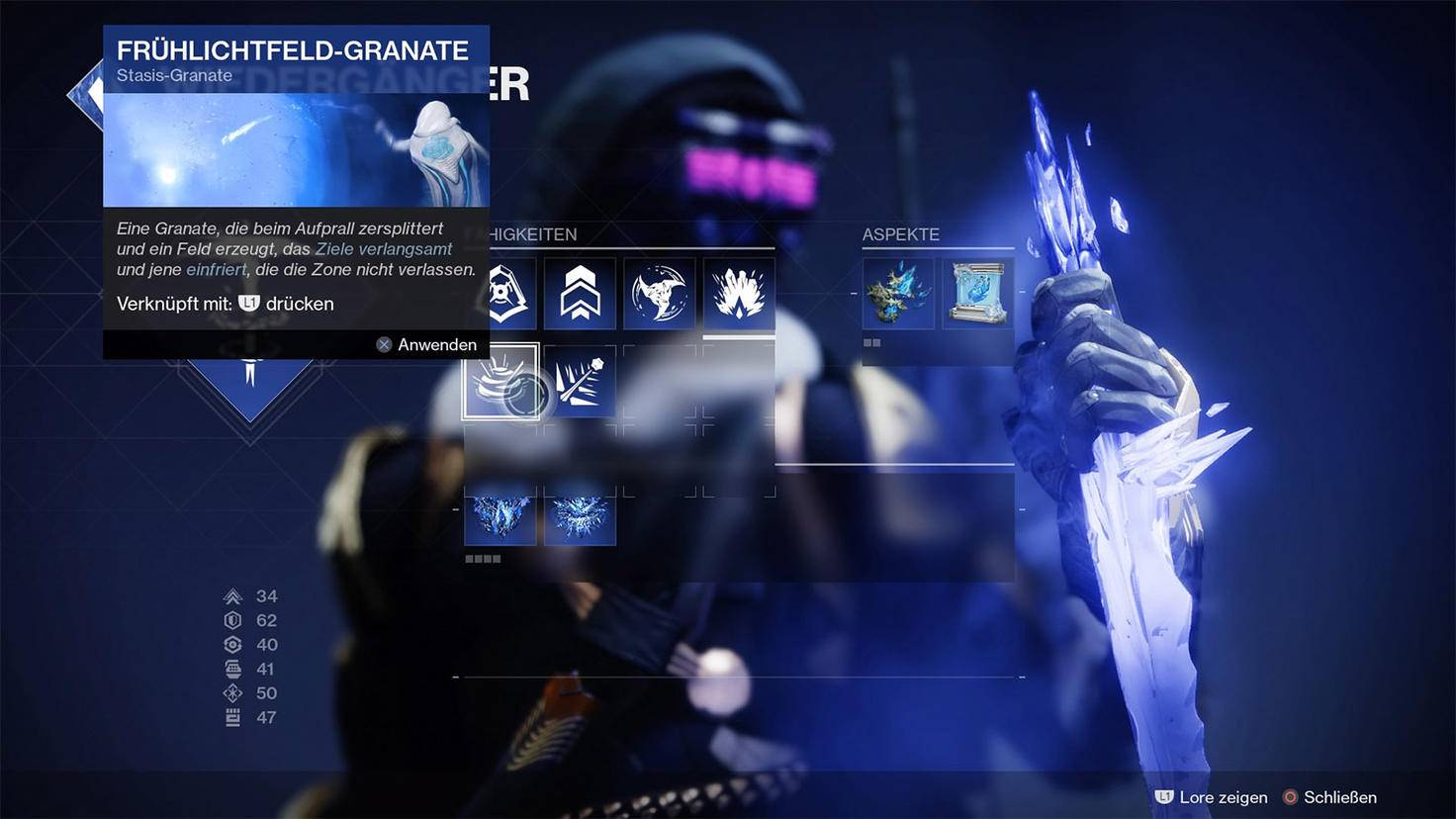 Grenade Lightfield Spring Stasis de Destiny 2