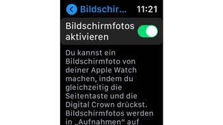 Capture d'écran Apple Watch
