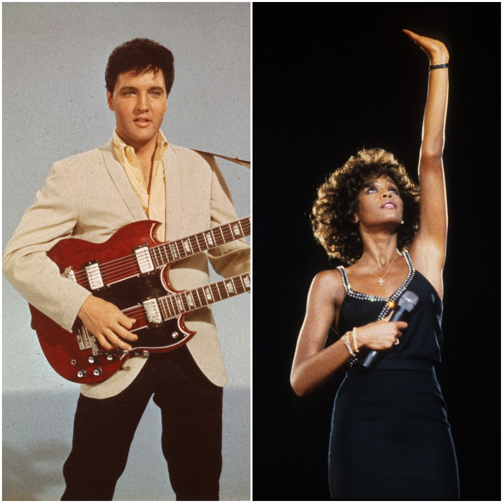 Elvis Presley;  Whitney Houston