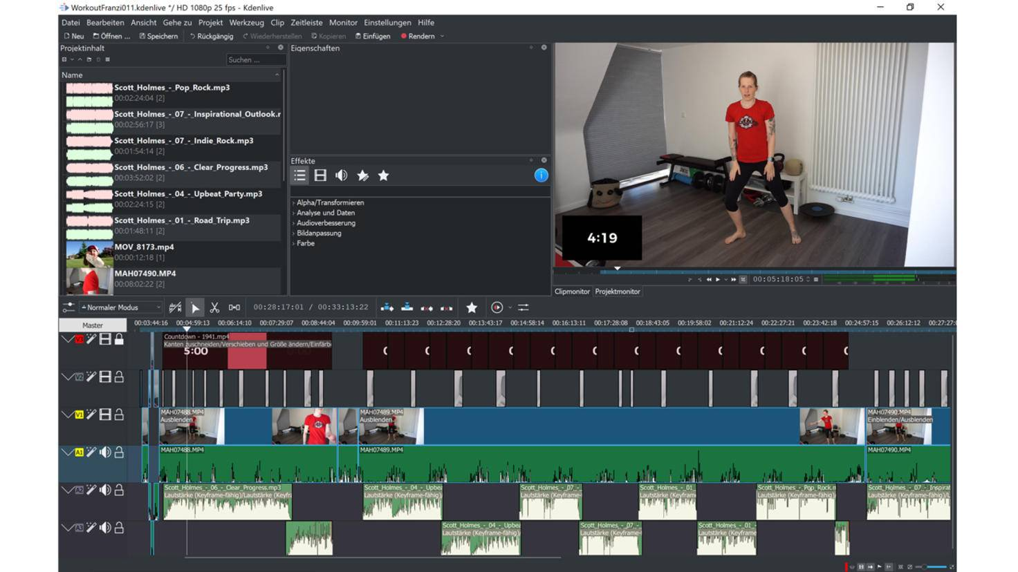 Couper la vidéo gratuitement kdenlive 2