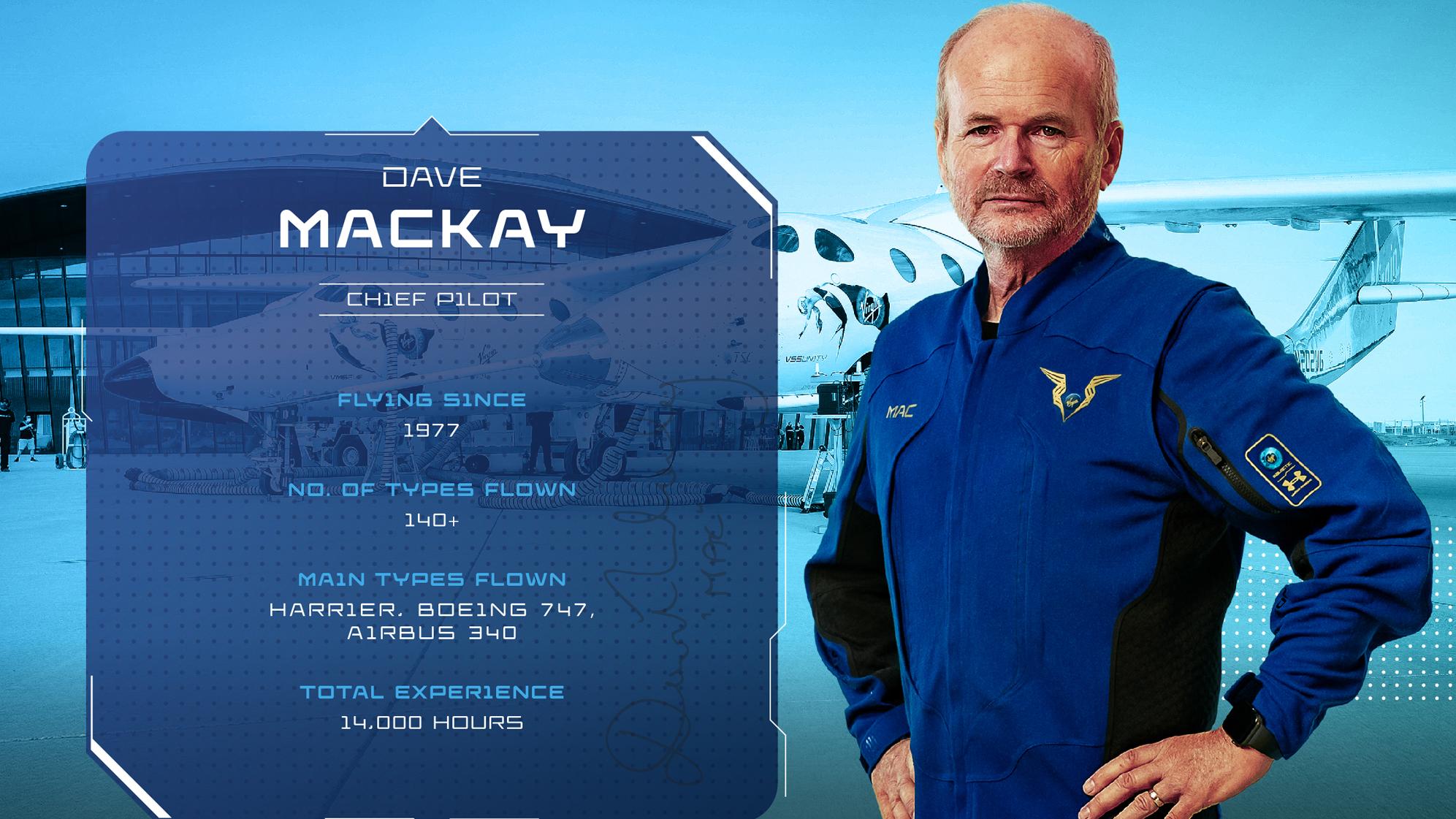 Le pilote de Virgin Galactic SpaceShipTwo Unity Dave Mackay.